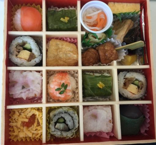 """Ohanami"" - cherry blossom viewing themed sushi box"