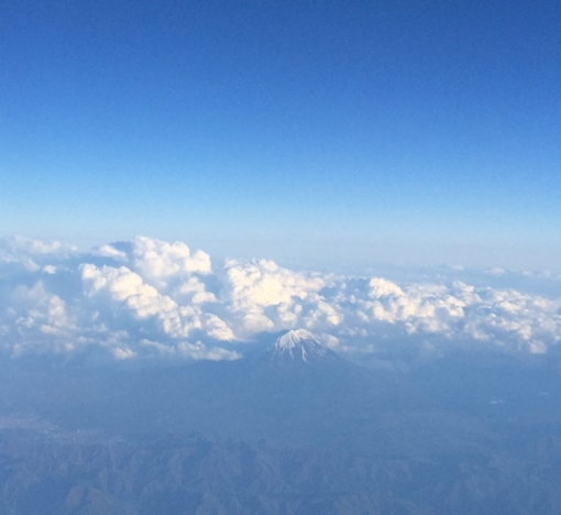 Mt. Fuji from the sky.