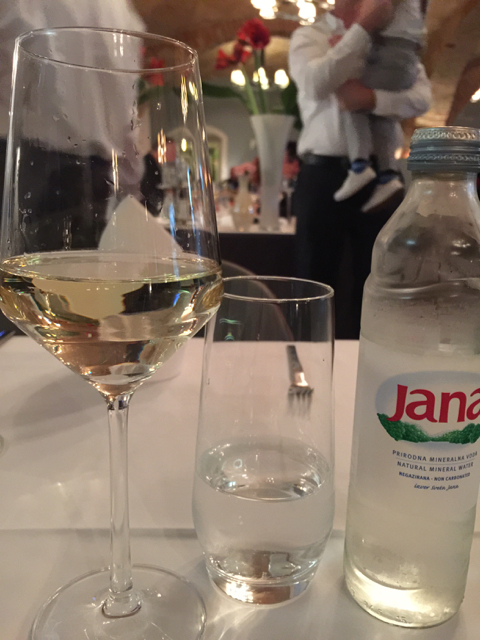 Sat down to a nice glass of Croatian white that was recommended by the young, cute waiter.