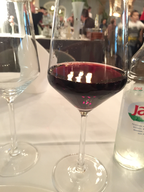 A glass of Croatian red.