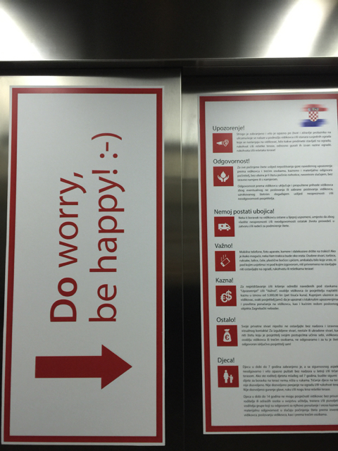 Blurbs inside the elevator