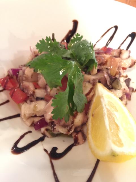 Octopus salad, a signature dish of Dalmatia