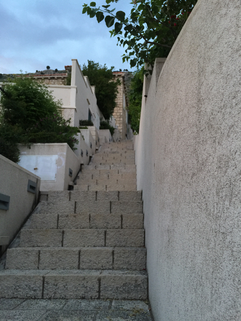 And more steep steps outside of the old city in the residential district of Ploce
