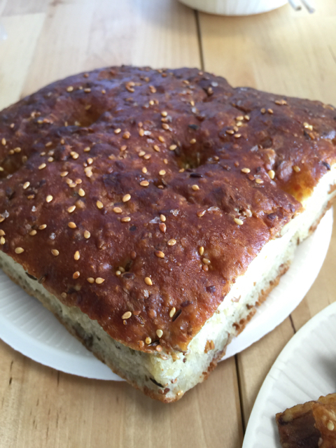 Focaccia from the same boulangerie