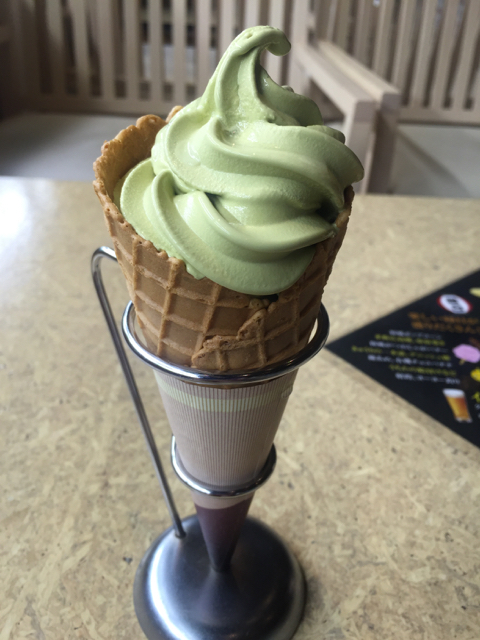 The best green tea soft serve ever.