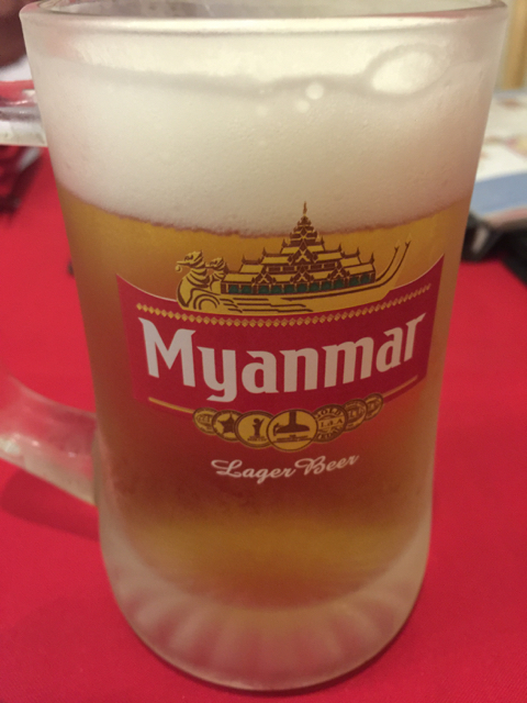 First Myanmar beer