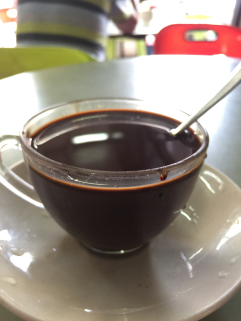 """Typical Malay """"coffee"""" which is very sweet."""
