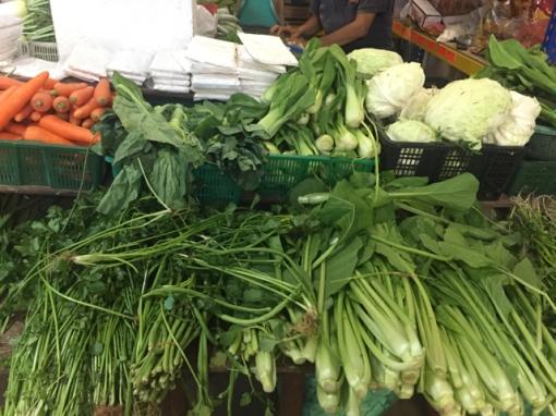 Some veg stalls. Not a lot.