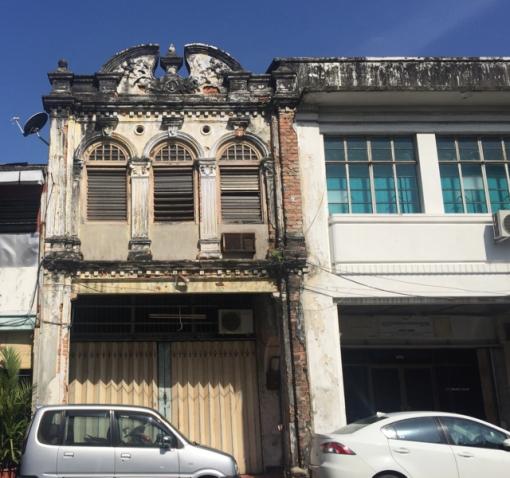Old, abandoned shophouse